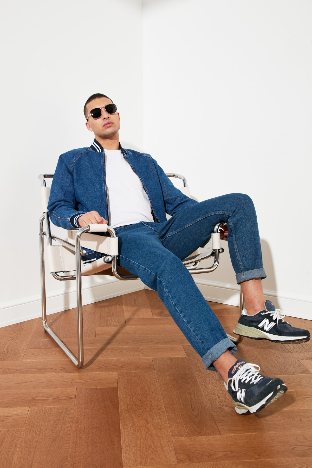 TRENDYOL MAN Indigo Erkek Essential Fit Jeans TMNSS21JE0058 1