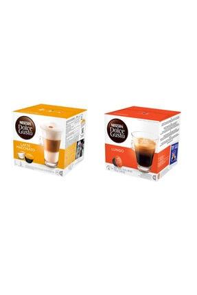 Nescafe Dolce Gusto Karışık Tatlar Kapsül Kahve Seti 2*16'lı Paket (latte Macchiato - Lungo)