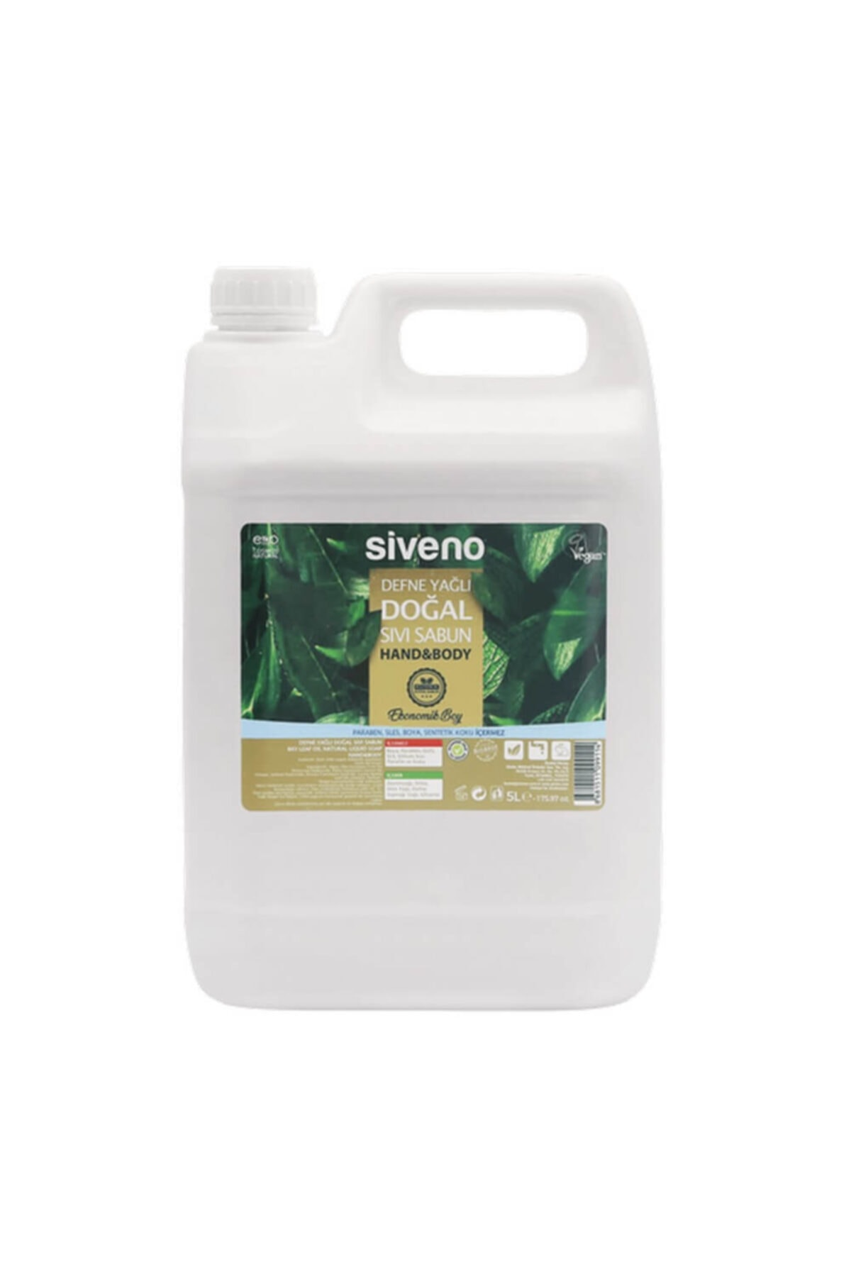 Siveno Defne Yağlı Doğal Sıvı Sabun 5 Lt 1