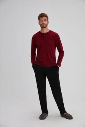 Eros Kutulu %100 Pamuk Penye Çeyizlik Erkek Pijama Takım