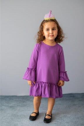 PixyLove Kız Çocuk Mor Elbise