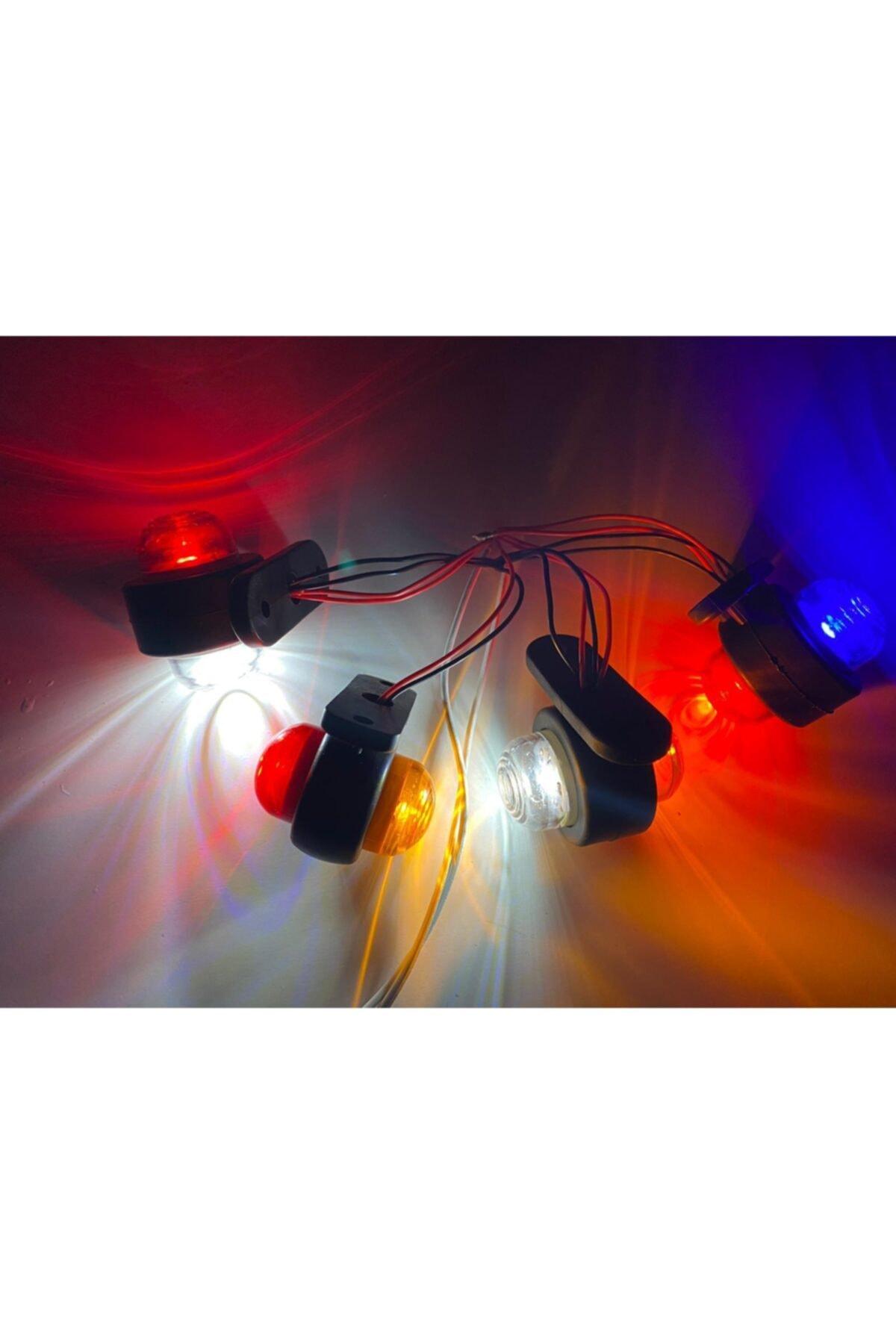 FTE Mini 12/24 Volt Uyumlu Çift Renkli Şiddetli Işıklı Takoz Led 1