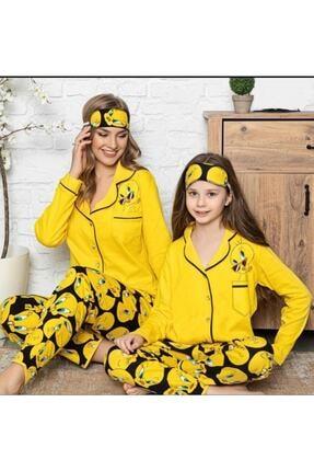 Manolya Kız Çocuk Sarı Anne Kız Tweety Pijama Takımı
