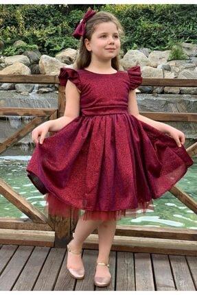 Riccotarz Kız Çocuk Fuşya Parıldayan Elbise