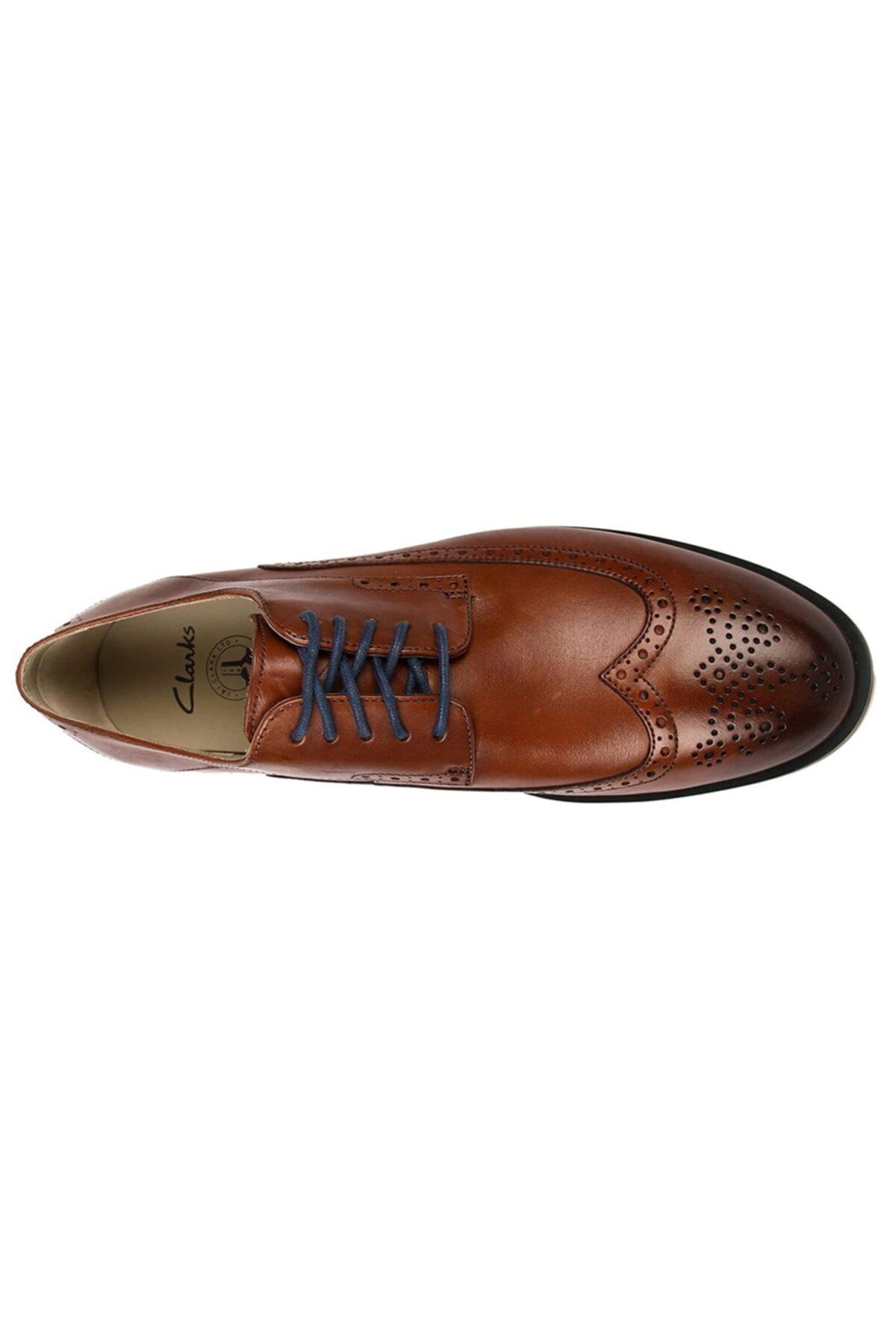 CLARKS Erkek Ayakkabı Bağcıklı Şık Rahat Gardırop Favorisi Ortholite Gatley Limit Tan 1