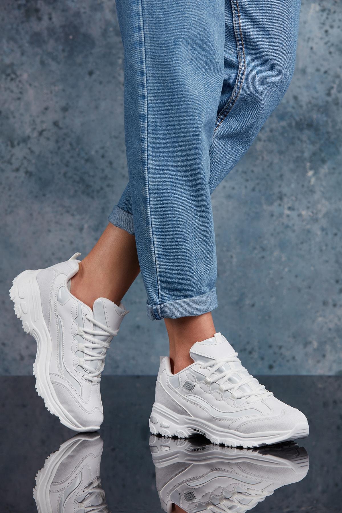 DARK SEER Beyaz Kadın Sneaker 2
