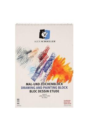 Alex Schoeller Teknik Çizim Defteri Spiralli 165g 15 Yaprak 35x50