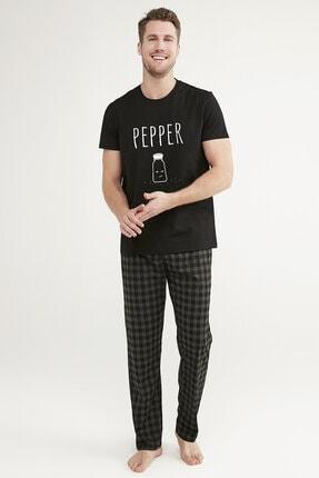 Penti Kadın Siyah Gift Pepper Pijama Takımı