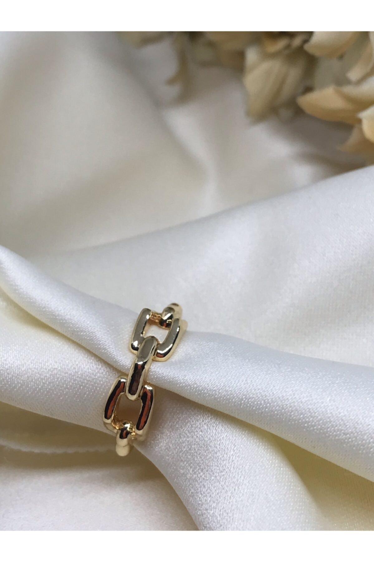 D'mare Accessories Altın Kaplama Zincir Detay Yüzük 1