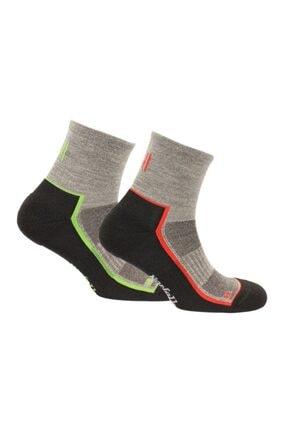 NORFOLK 2'li Green Red Merino Yünü Koşu Çorabı Joel