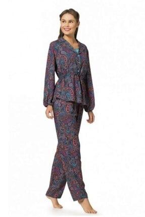 Pierre Cardin 1060 Çeyizlik 3'lü Viskon Bayan Pijama Takım