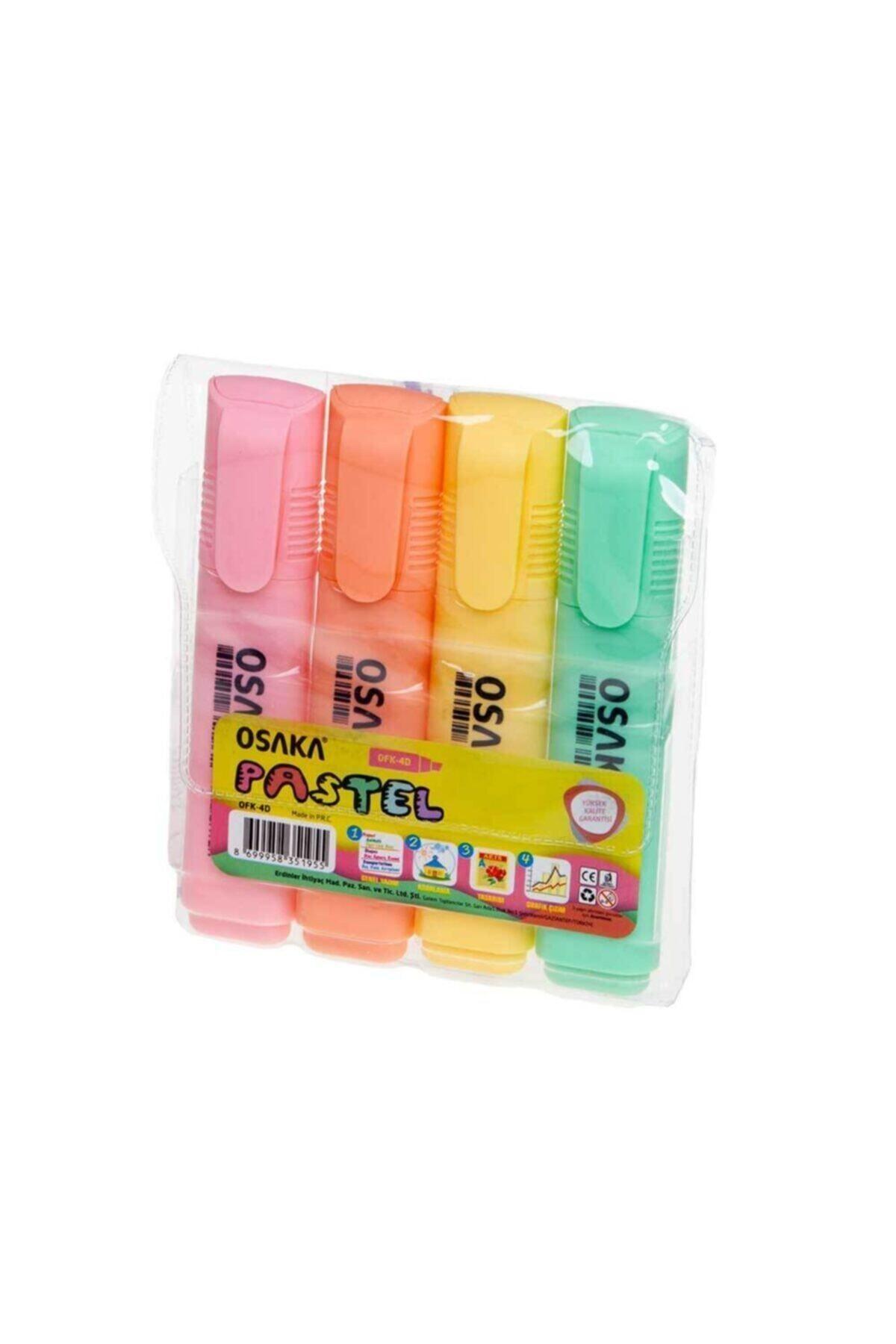 Osaka 4 Renk Pastel Renkli Fosforlu Kalem 1