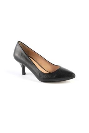 Libero 670678 Bayan Deri Topuklu Ayakkabı Siyah