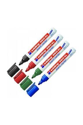 Edding 360 Xl Beyaz Tahta Kalemi 4 Lü Set