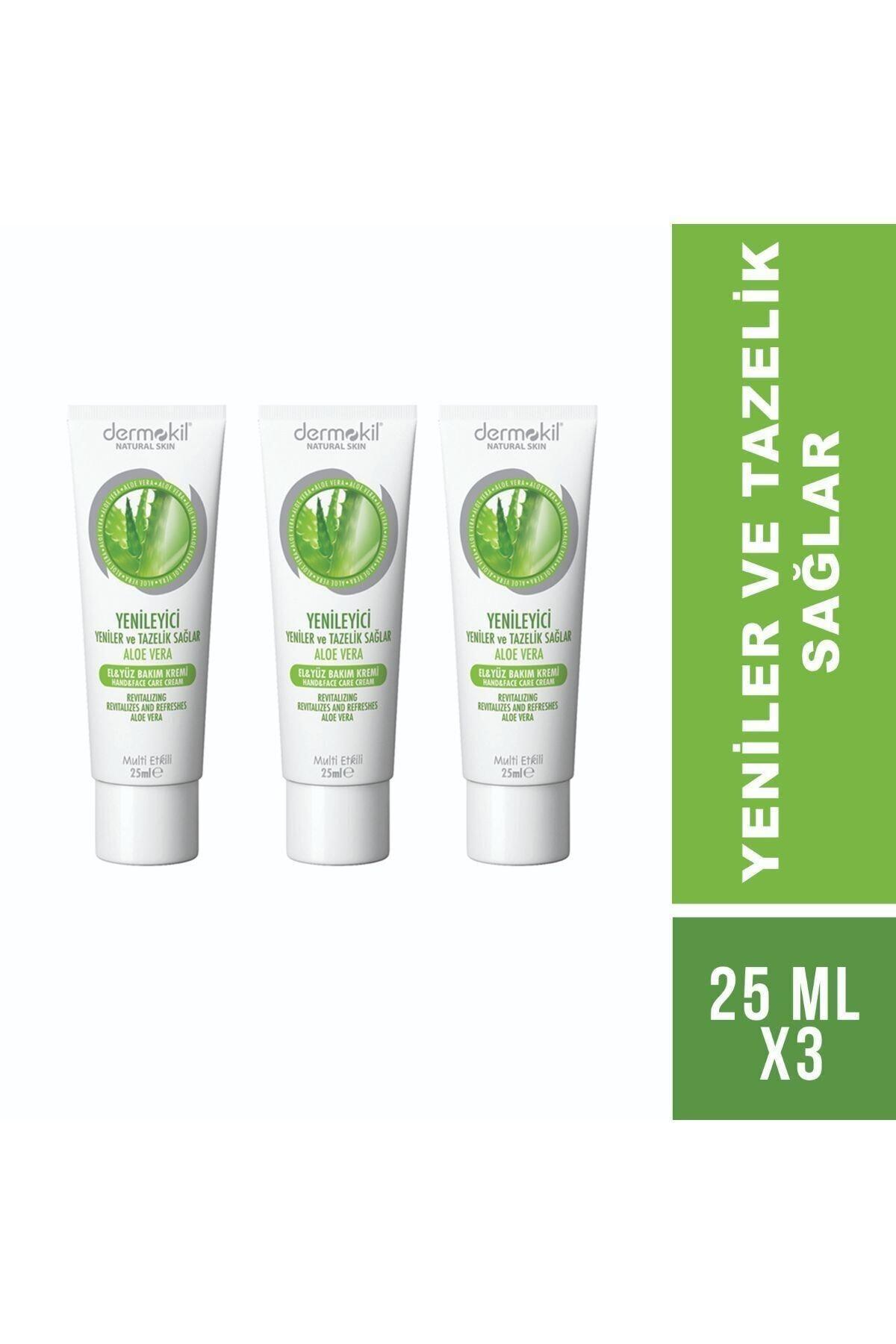 Dermokil Aloe Vera Özlü El Kremi 25 ml X3 2