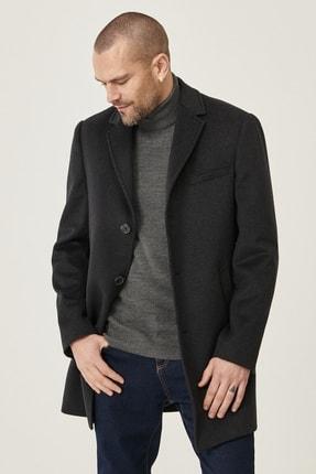 AC&Co / Altınyıldız Classics Erkek Antrasit Standart Fit Yünlü Klasik Kışlık Palto