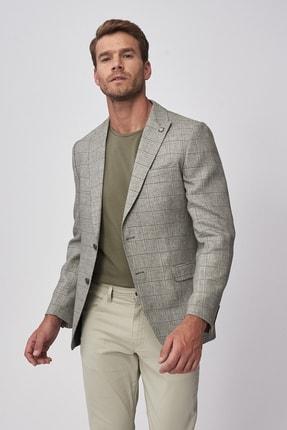 ALTINYILDIZ CLASSICS Erkek Yeşil Regular Fit Desenli Ceket
