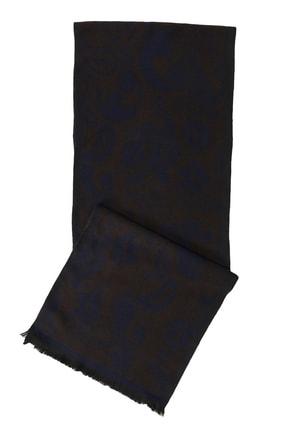 ALTINYILDIZ CLASSICS Erkek Kahverengi-Lacivert Lacivert-Kahverengi Desenli Örme Atkı
