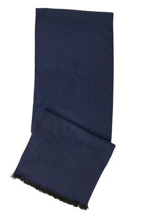 ALTINYILDIZ CLASSICS Erkek Lacivert-Gri Gri-Lacivert Desenli Örme Atkı