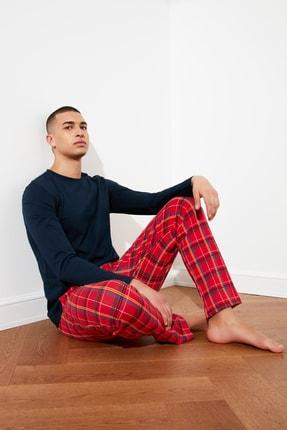 TRENDYOL MAN Ekose Örme Pijama Takımı THMAW21PT0716
