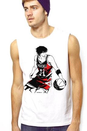Rock & Roll Erkek Beyaz Yakışıklı Basketçi Kesik Kol | Kolsuz T-Shirt / Atlet