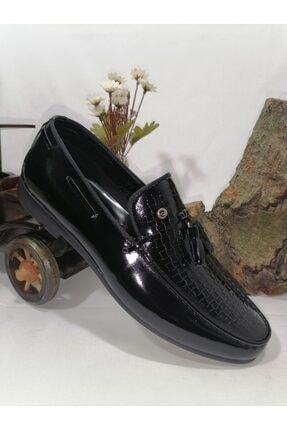Pierre Cardin Erkek Siyah Antik Kare Corcik Klasik Ayakkabı