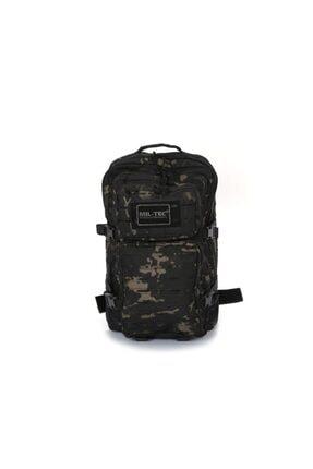 Mil-Tec Lazer Kesim Siyah Kamuflaj Tactical Askeri-dağcı 50 Litre Outdoor Sırt Çantası