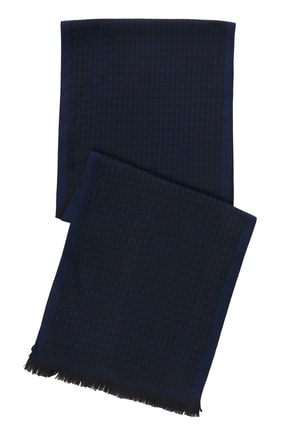 ALTINYILDIZ CLASSICS Erkek Siyah-Mavi Desenli Atkı