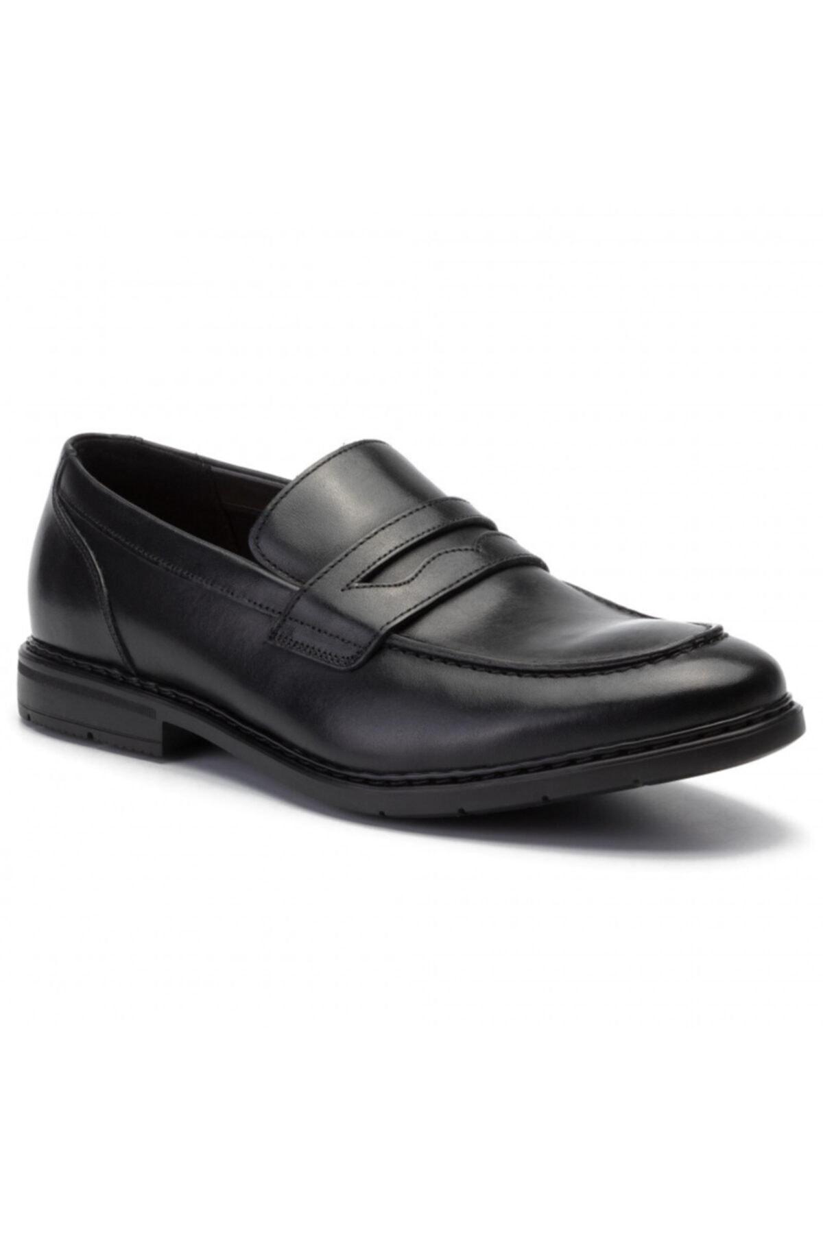 CLARKS Erkek Siyah Hakiki Deri Klasik Ayakkabı 1