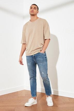 TRENDYOL MAN Mavi Erkek Skinny Fit Cropped Jeans TMNSS21JE0054