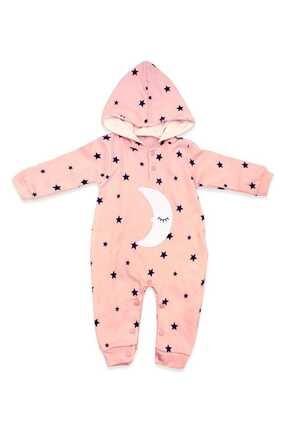 Murat Baby Uykucu Aydedeli Yıldızlı Pembe Bebek Tulumu K2912