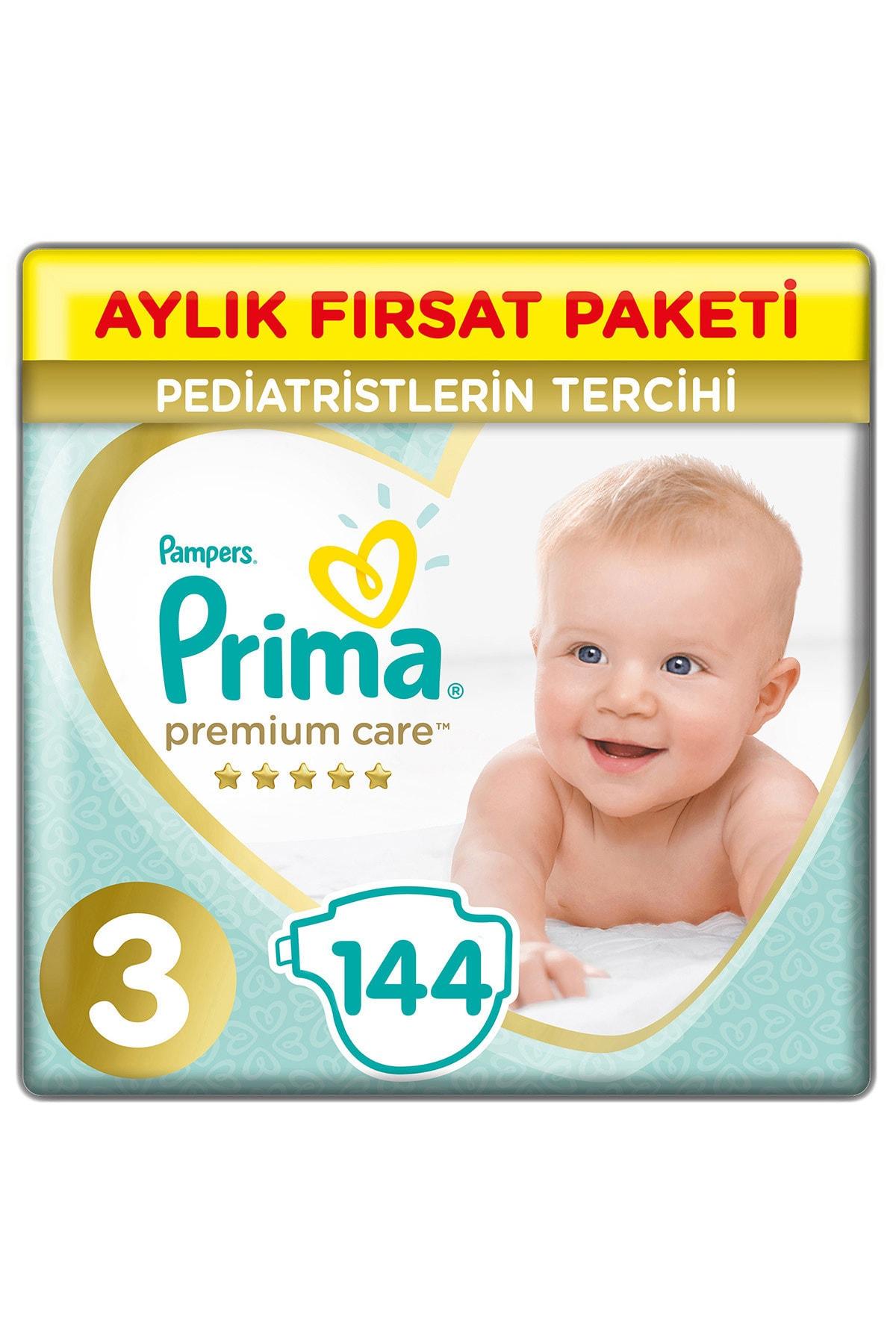 Prima Bebek Bezi Premium Care 3 Beden 144 Adet Midi Aylık Fırsat Paketi 1