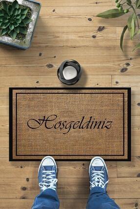 Buket Home Hoşgeldiniz Hasır Desenli Dekoratif Kapı Önü Paspası