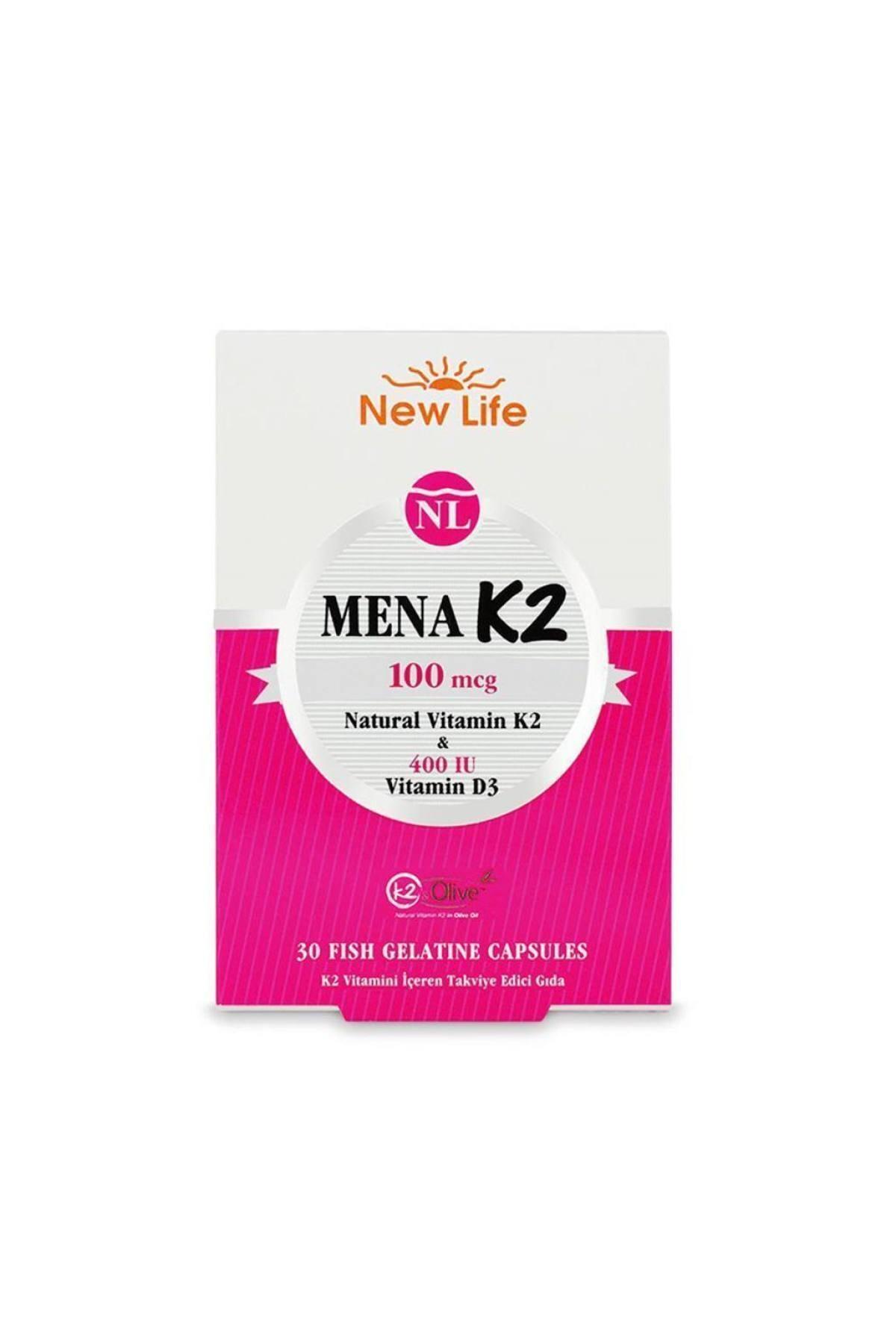 New Life Mena K2+d3 Natural Vitamin 30 Kapsül 1