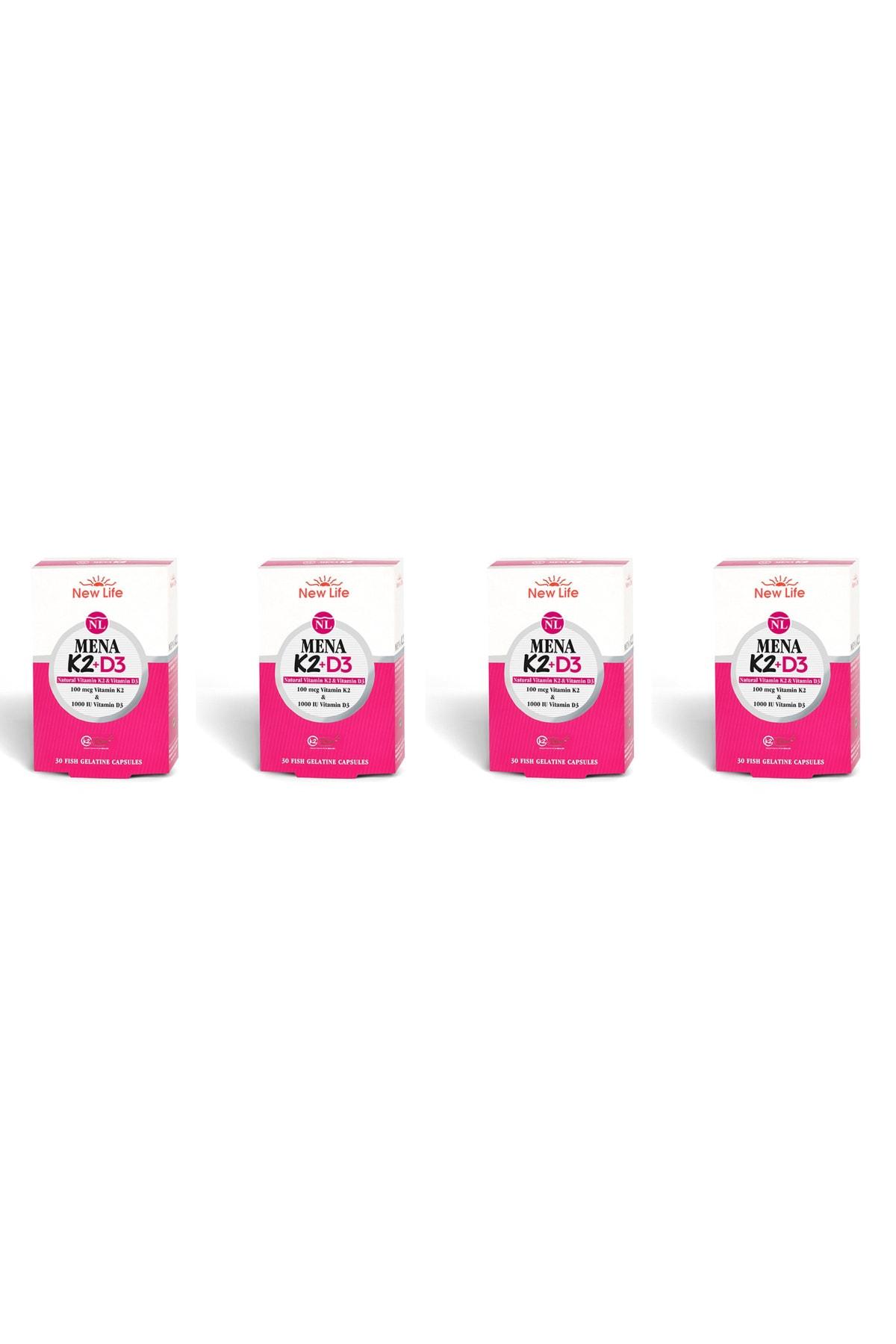 New Life Mena K2+d3 Natural Vitamin 30 Kapsül 4'lü Paket 1