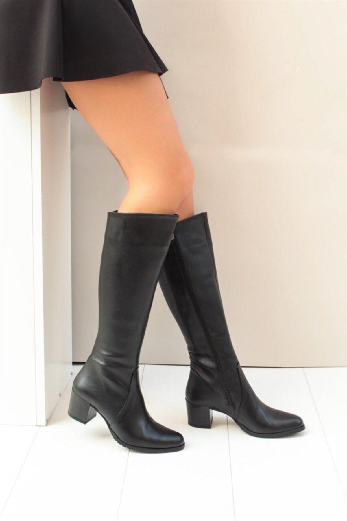 Fox Shoes Siyah Kadın Çizme A654252709 1