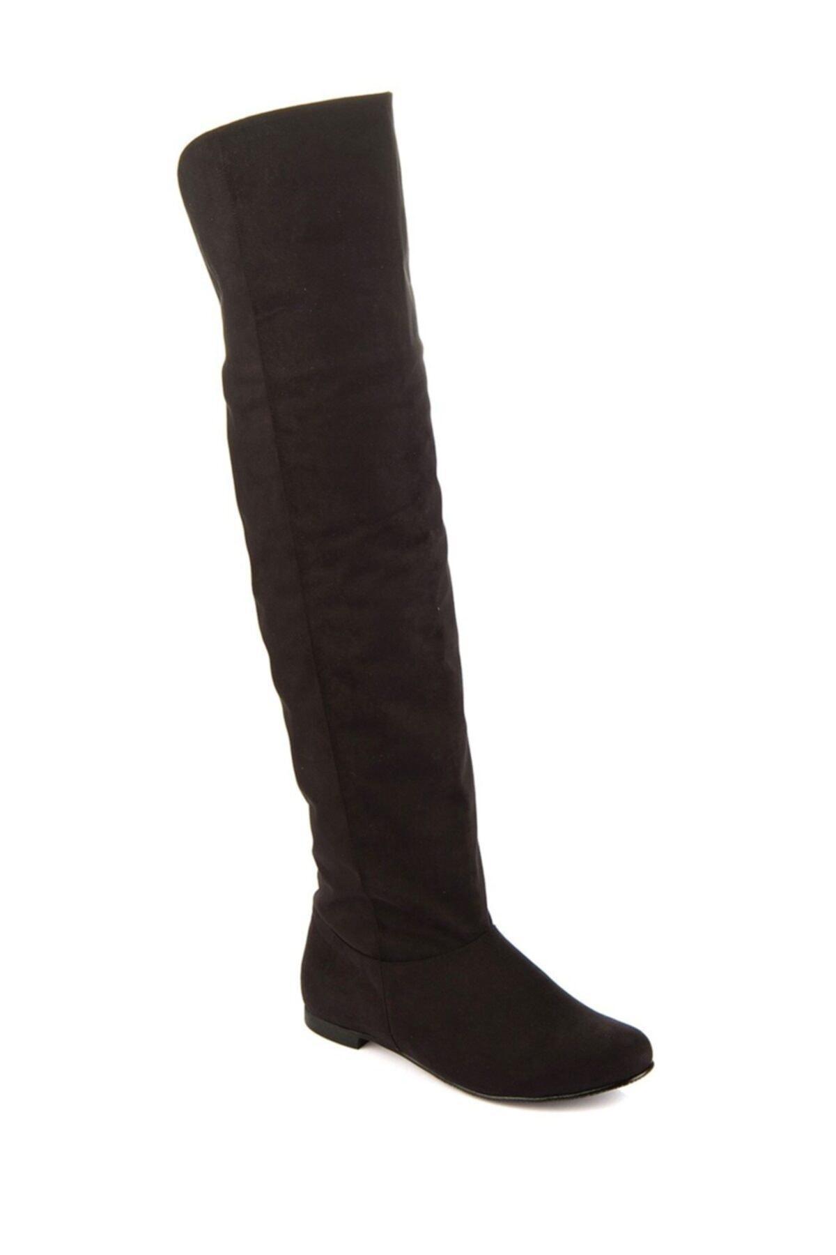 Fox Shoes Siyah Kadın Çizme 8248025902 2