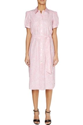 Tommy Hilfiger Kadın Pembe Elbise Reısa Shırt Dress Ss WW0WW28190