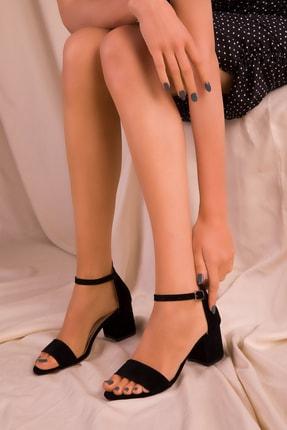 SOHO Siyah Süet Kadın Klasik Topuklu Ayakkabı 14529