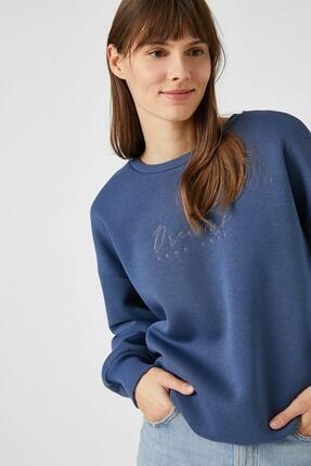 Koton Lacivert Kadın Sweatshirt 1kak13297ek