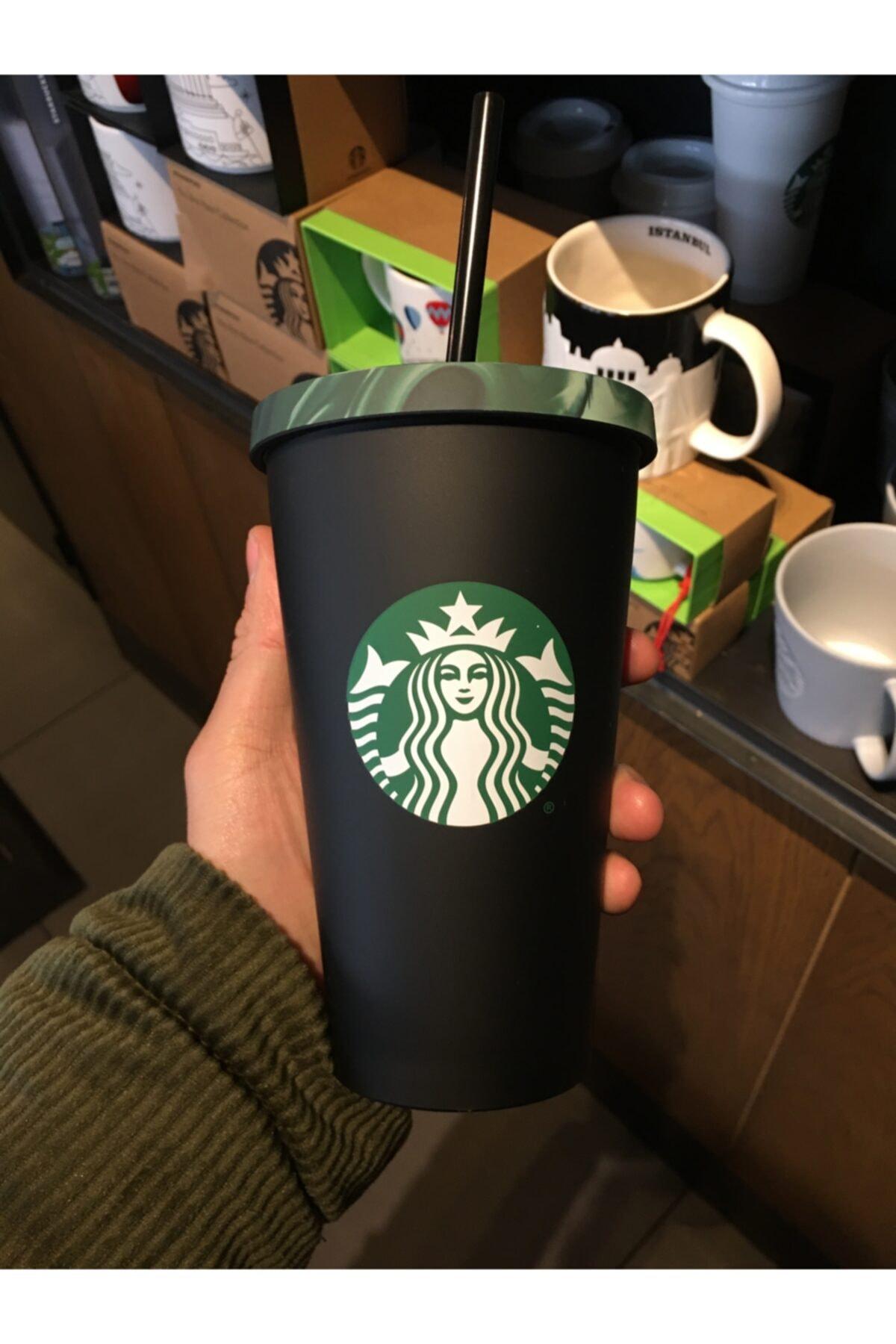 Starbucks ® Siyah Askeri Desenli Soğuk Içecek Bardağı - 473 Ml 2