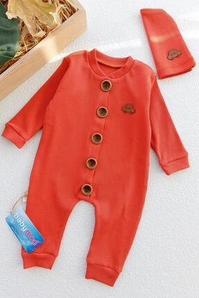 Babymod Düğmeli Şapkalı Organik Erkek Bebek Tulum