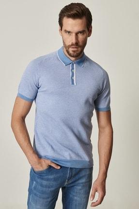 ALTINYILDIZ CLASSICS Erkek Mavi Slim Fit Polo Yaka Tişört