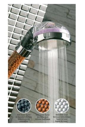 HERFİE %50 Su Tasarruflu Ve Arıtmalı Doğal Taşlı Duş Başlığı