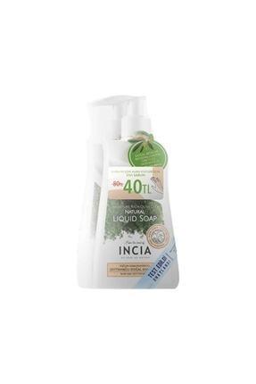 Incia Yoğun Nemlendiricili Doğal Zeytinyağlı Sıvı Sabun 250 Ml 2'li Paket