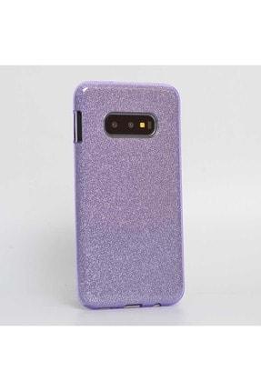 Samsung Galaxy S10e Kılıf Simli Silikon Çift Katman