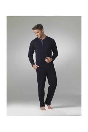 Pierre Cardin Erkek Uzun Kol Çeyiz Lacivert Pijama Takım 5454