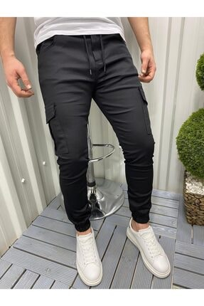 DCS COLLECTION Slim Fit Beli Ve Paçası Lastikli Kargo Cep Pantolon