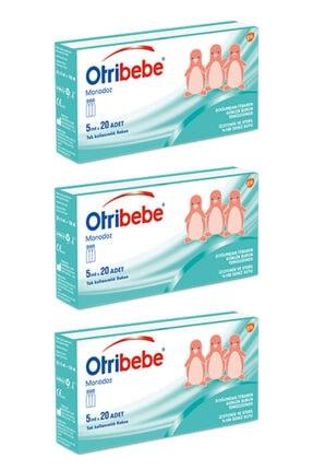 Otribebe 3 Adet Monodoz 5 Ml 20 Doz - Tek Kullanımlık Flakon Izotonik Deniz Suyu