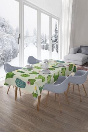 Hediyeler Kapında Green Concept Kaktüs Desenli Masa Örtüsü